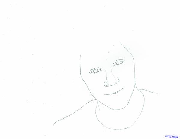 Рисуем портрет Найла Хорана из поп-группы One Direction