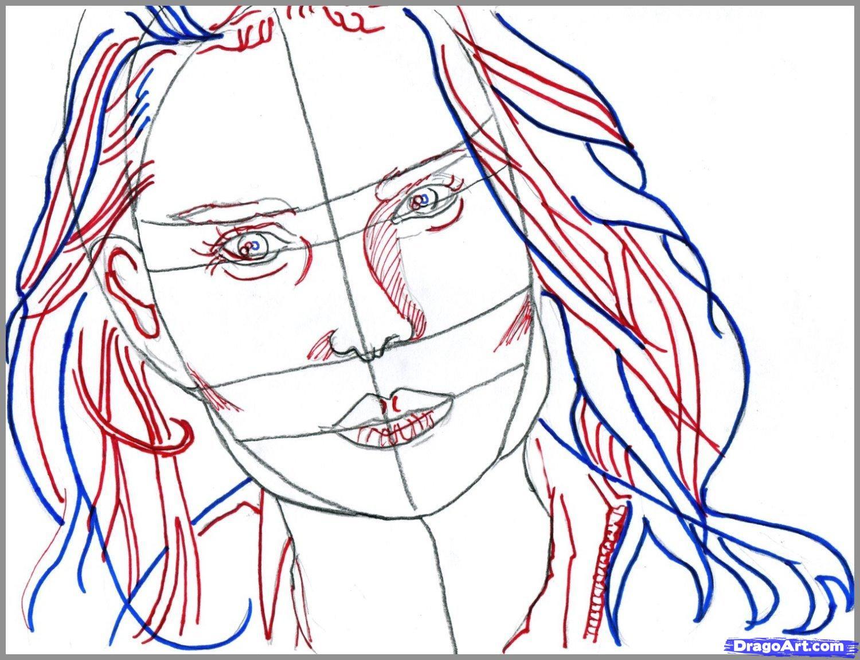 Рисуем портрет Натали Портман