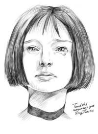 портрет Натали Портман карандашом