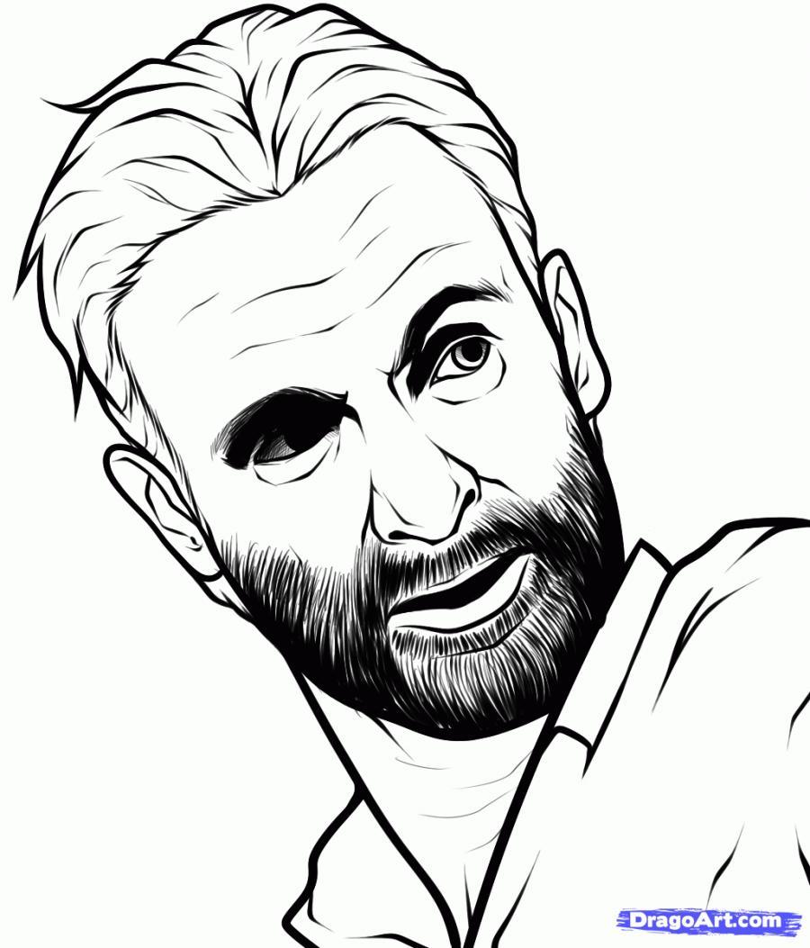 Рисуем портрет Рика Гримса
