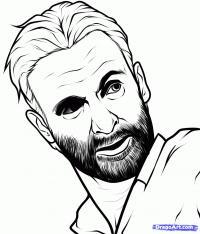 портрет Рика Гримса карандашом
