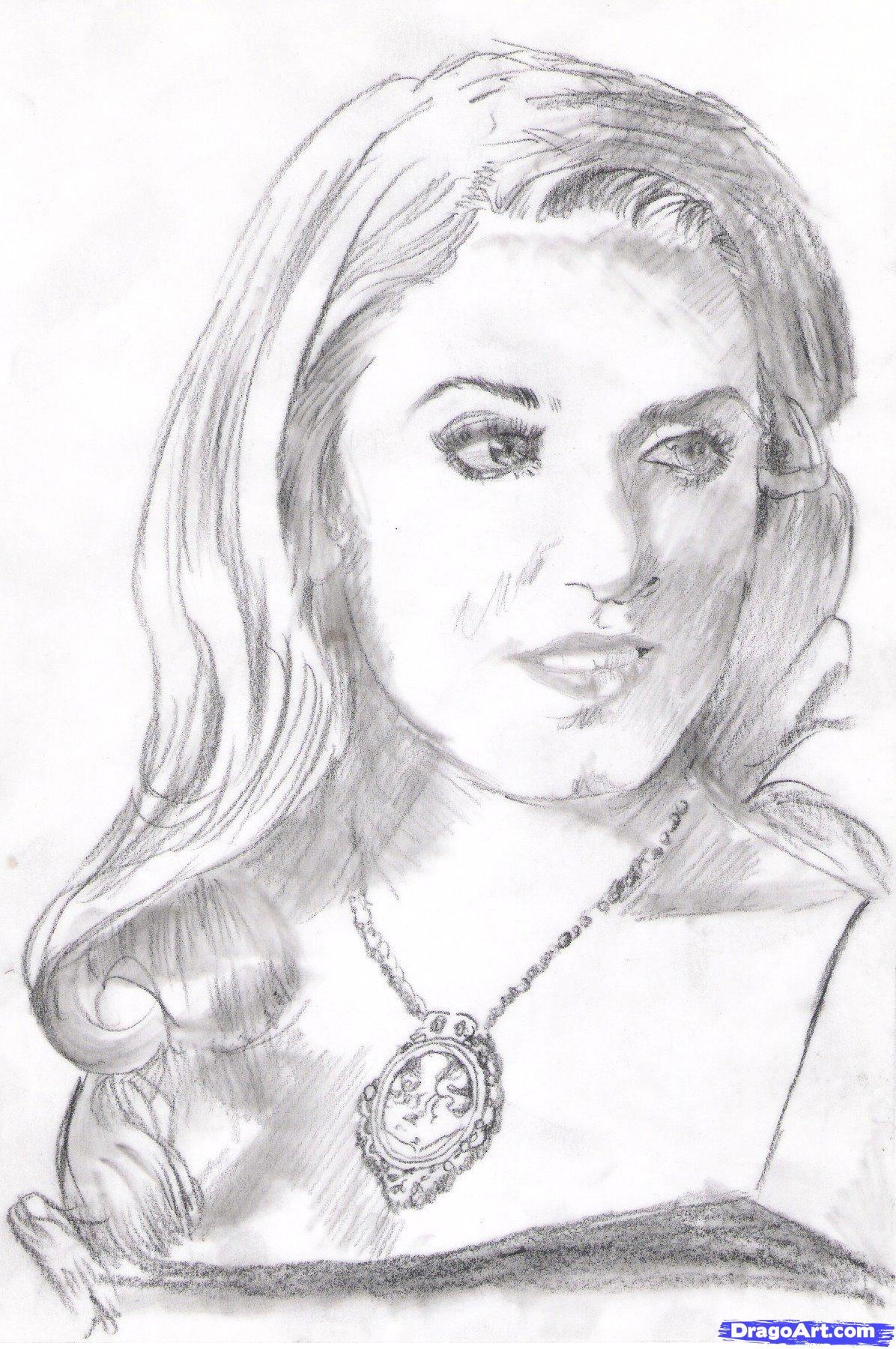 Как нарисовать портрет Розали