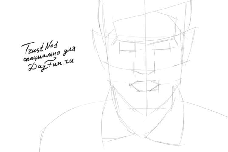 Как нарисовать портрет Саймона из Отбросы поэтапно