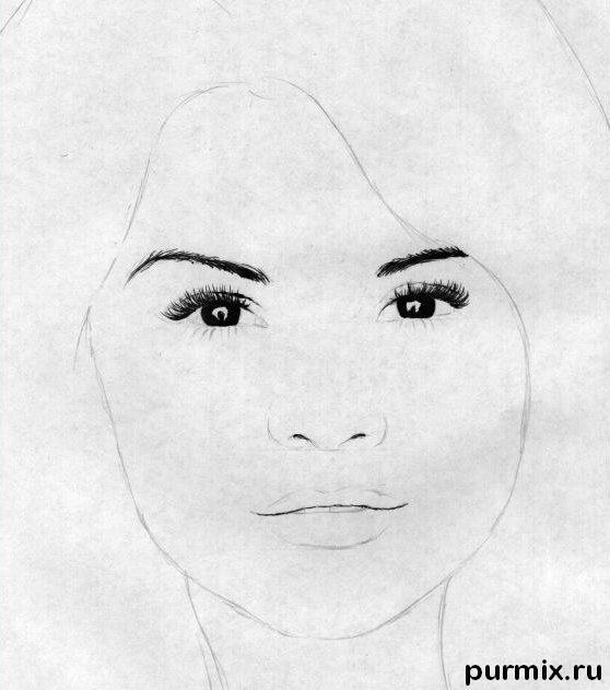 Рисуем портрет Селены Гомес простым