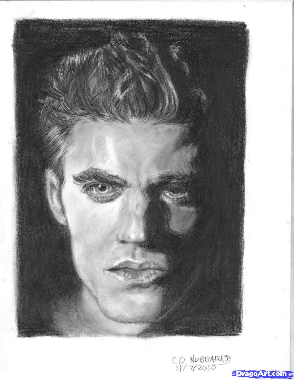 Рисуем портрет Стефана Сальваторе