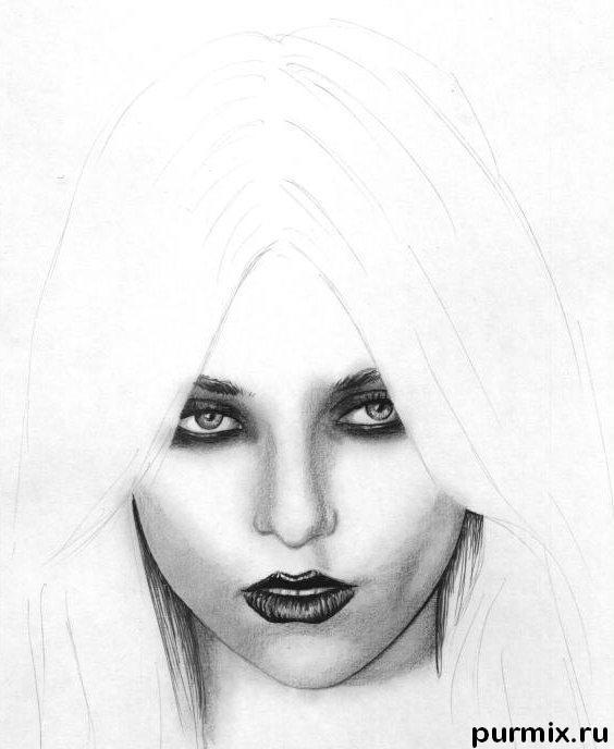 Рисуем портрет Тейлор Момсен простым