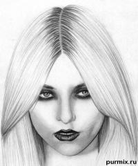 портрет Тейлор Момсен простым карандашом