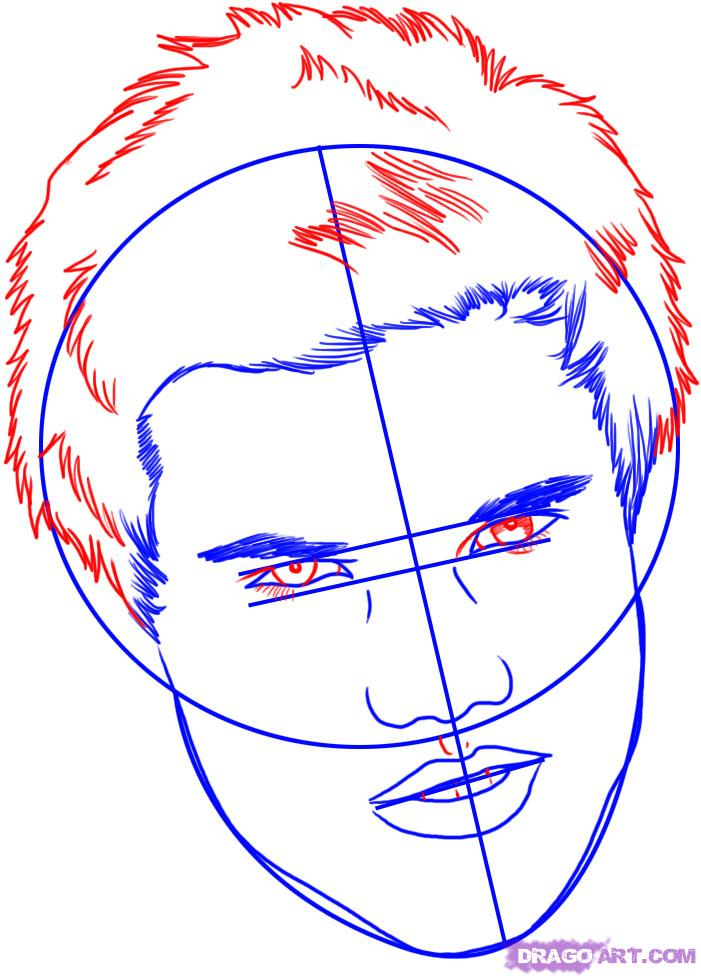 Рисуем портрет Тэйлора Лотнера - шаг 4