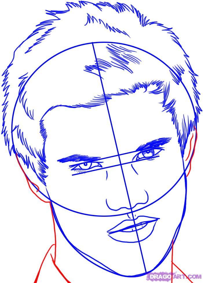 Рисуем портрет Тэйлора Лотнера - шаг 5