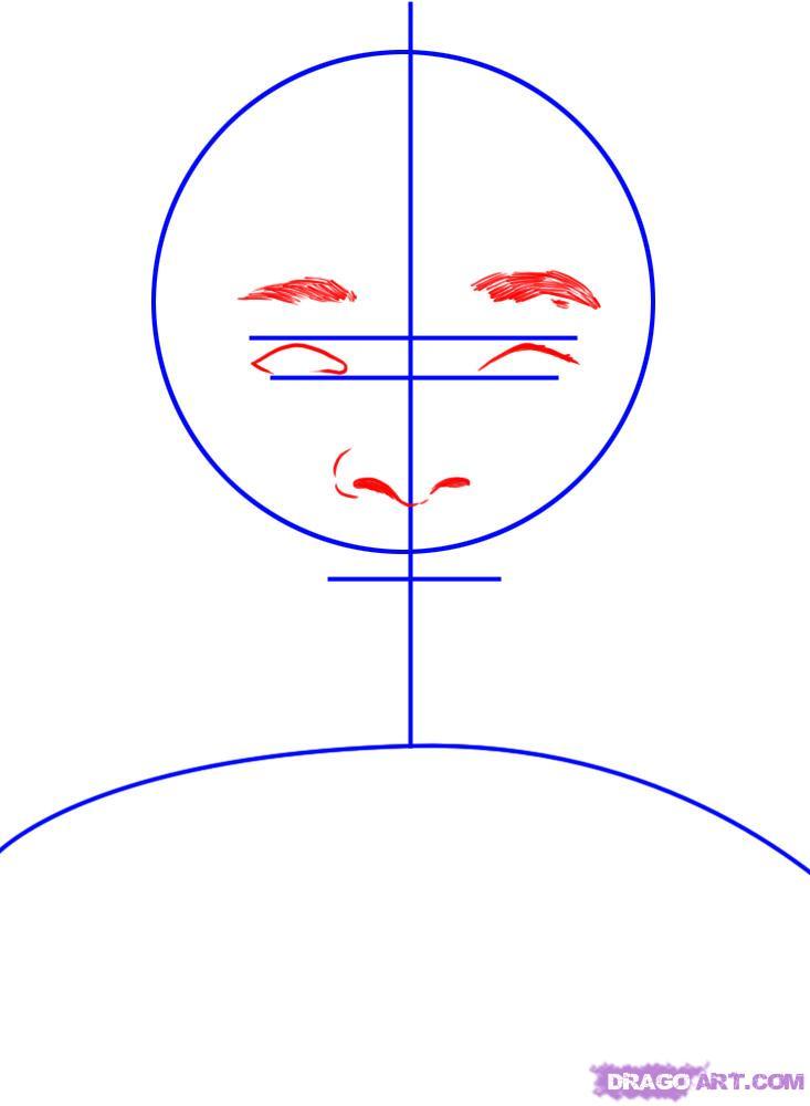 Рисуем портрет Уилл Смита - шаг 2