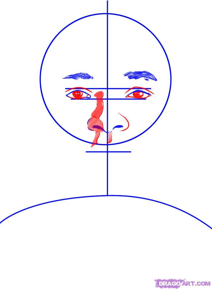 Рисуем портрет Уилл Смита - шаг 3