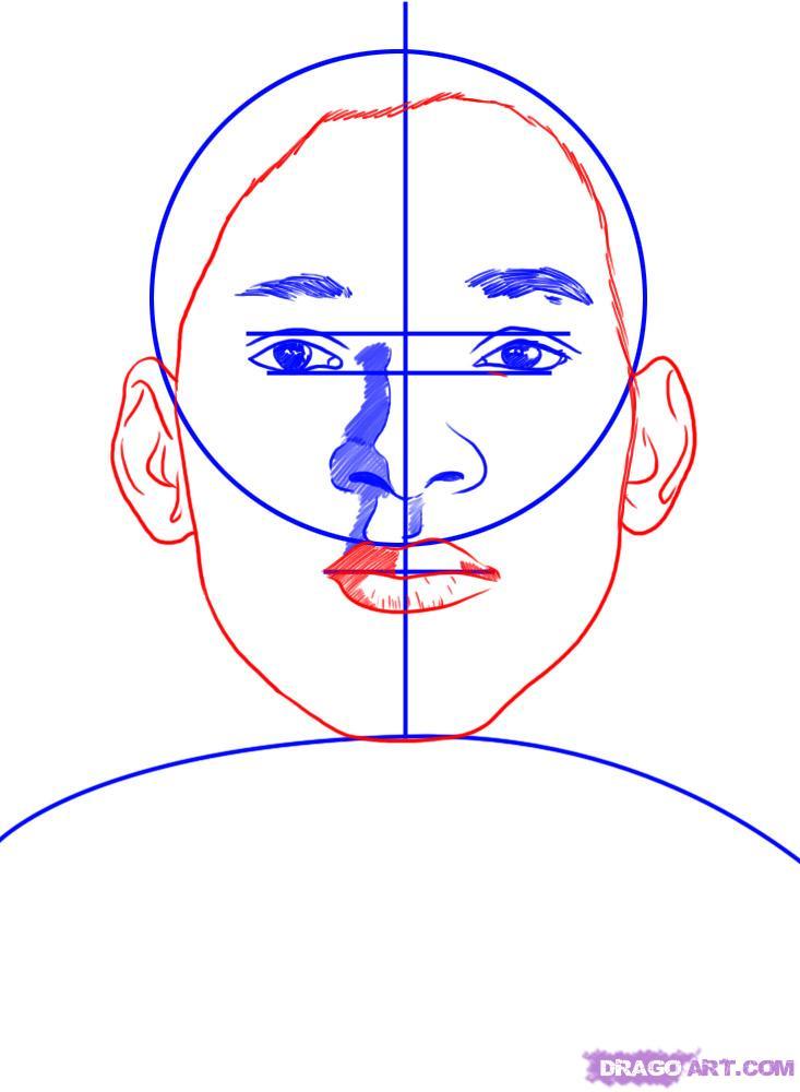 Рисуем портрет Уилл Смита - шаг 4