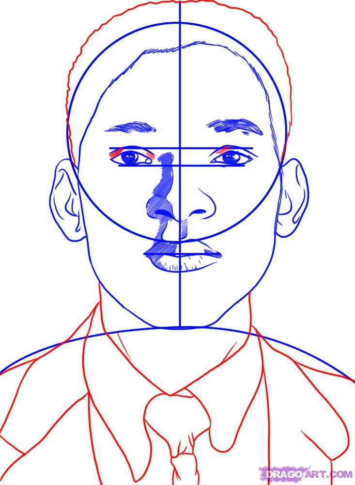 Рисуем портрет Уилл Смита - шаг 5