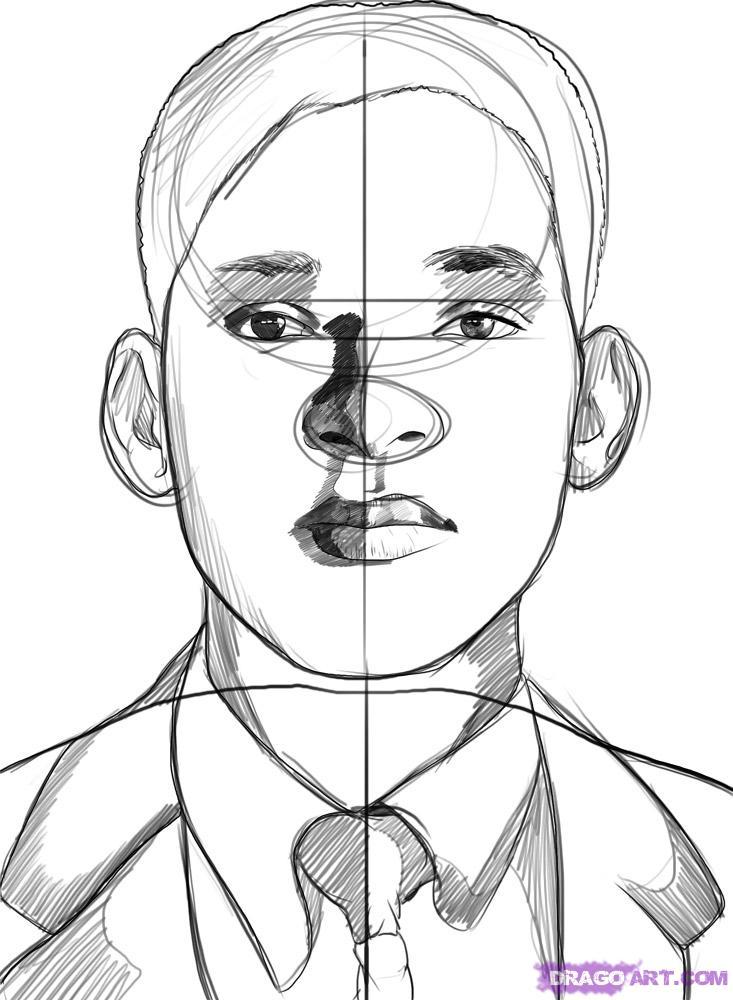 Рисуем портрет Уилл Смита - шаг 6