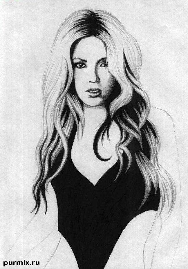 Рисуем Шакиру простым