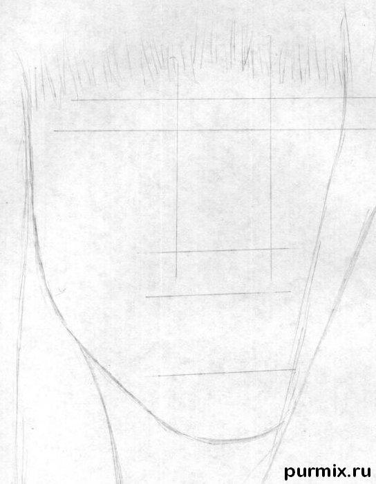Рисуем портрет Леди Гага - шаг 1