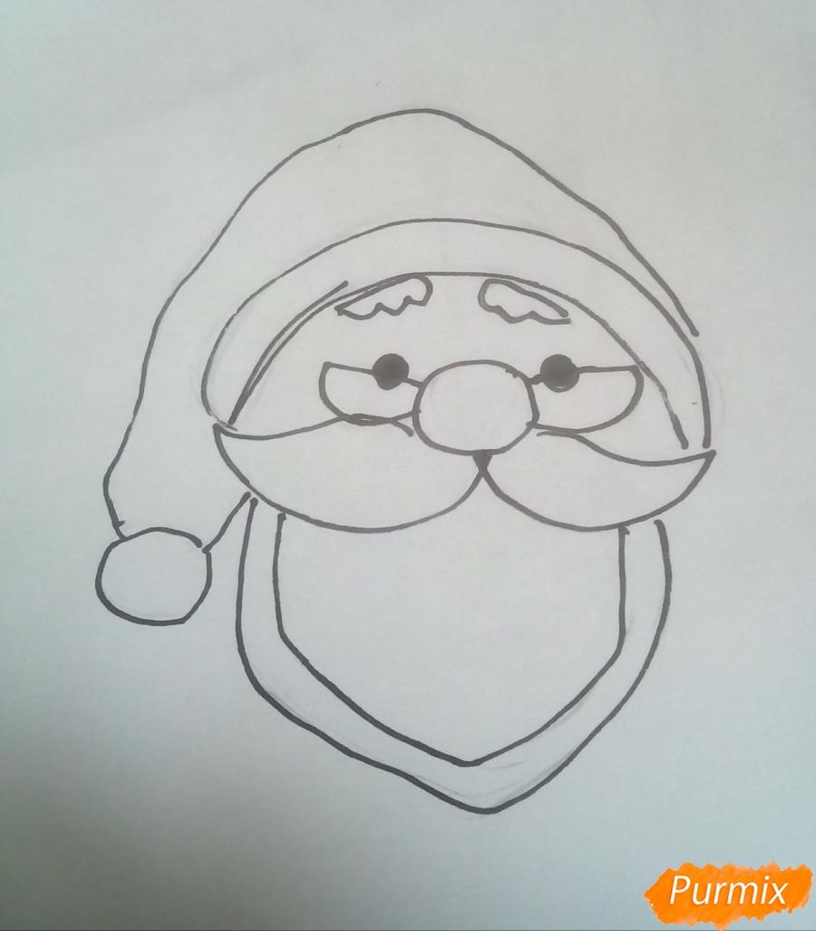 Голова милого Дедушки Мороза в очках - фото 4