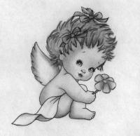Как нарисовать ангелочка на День святого Валентина поэтапно