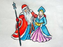 Деда Мороза и Снегурочку