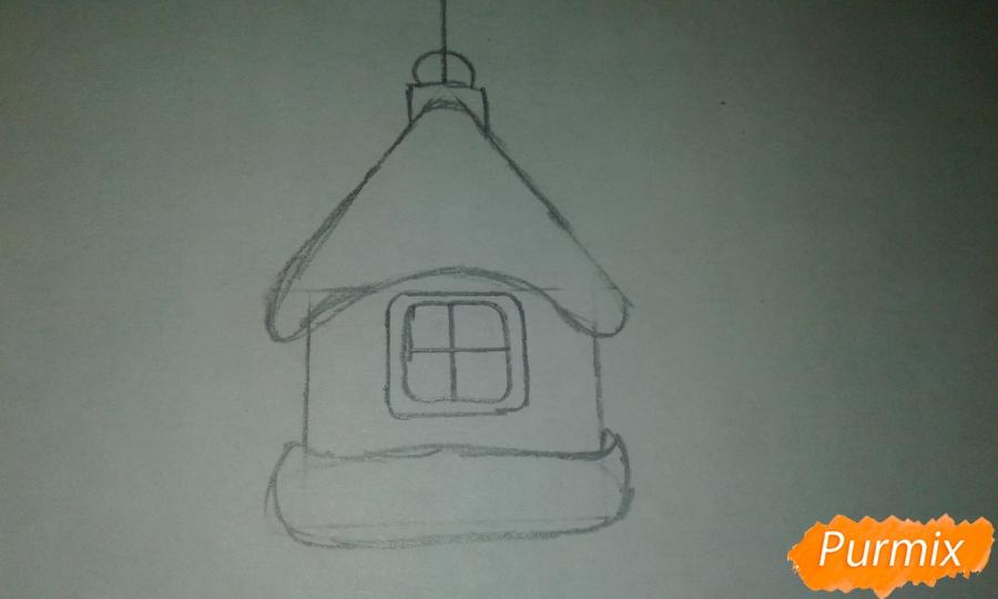 Рисуем ёлочные игрушки разных форм - шаг 11