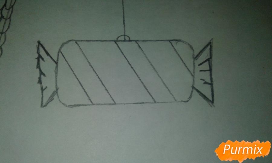 Рисуем ёлочные игрушки разных форм - шаг 8