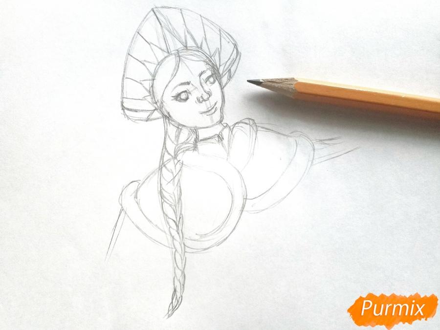 Рисуем лицо Снегурочки - фото 5