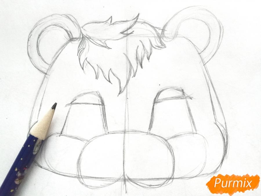 Рисуем маску медведя на новый год - фото 3