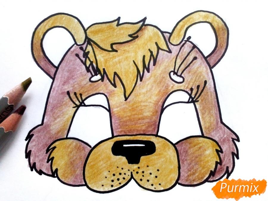 Рисуем маску медведя на новый год - фото 6