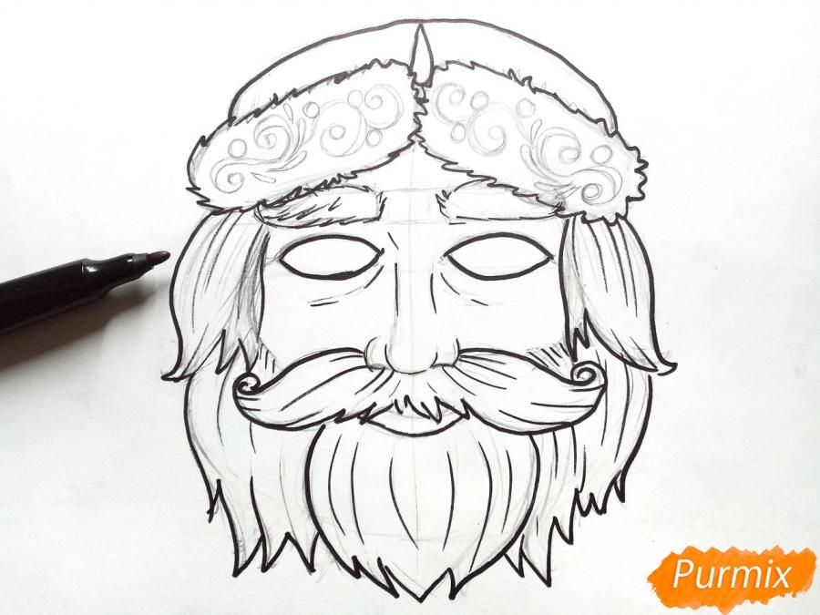 Учимся рисовать новогодние маски - фото 6