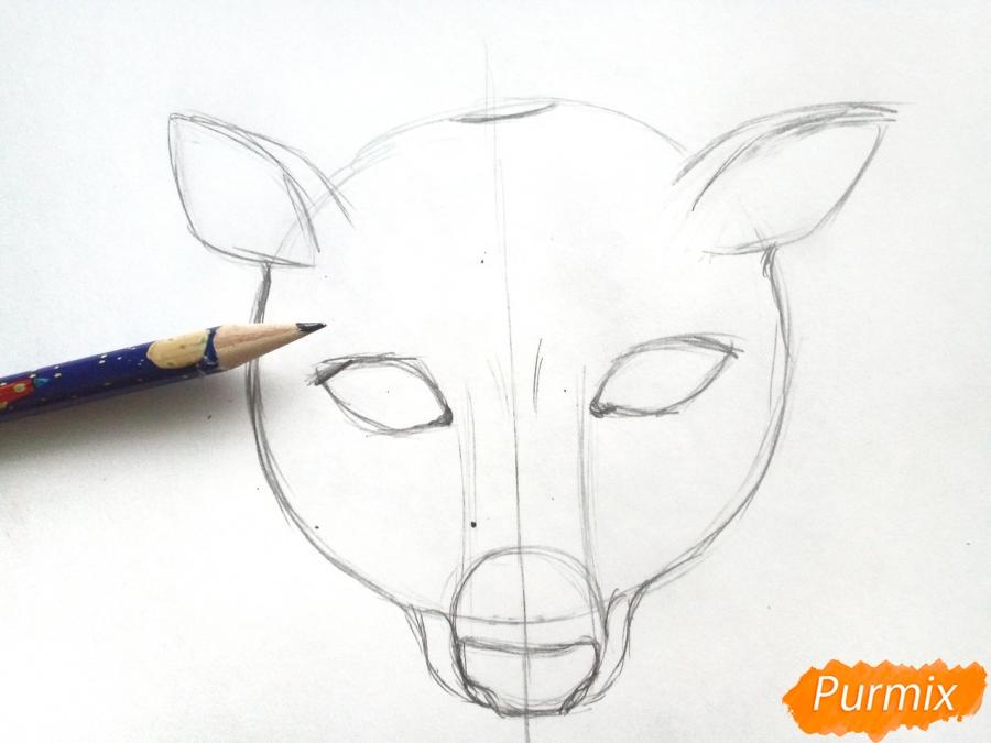 Рисуем маску оленя на новый год - фото 3