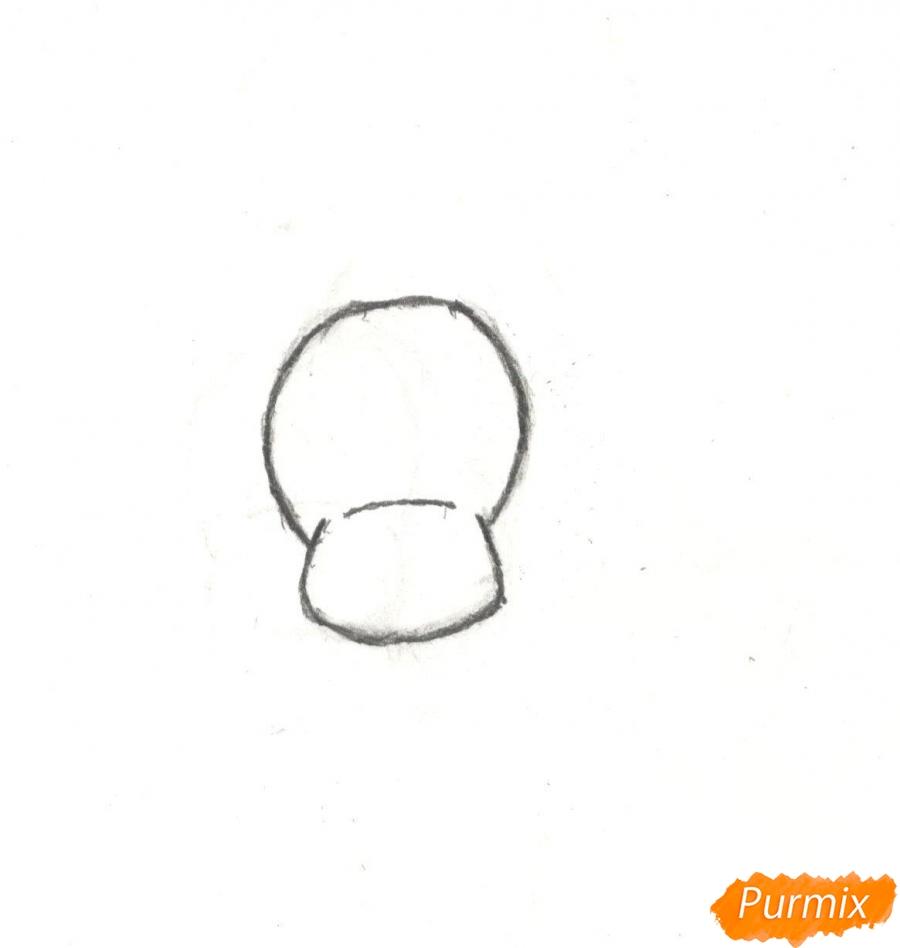 Рисуем новогоднего лося карандашами - шаг 1