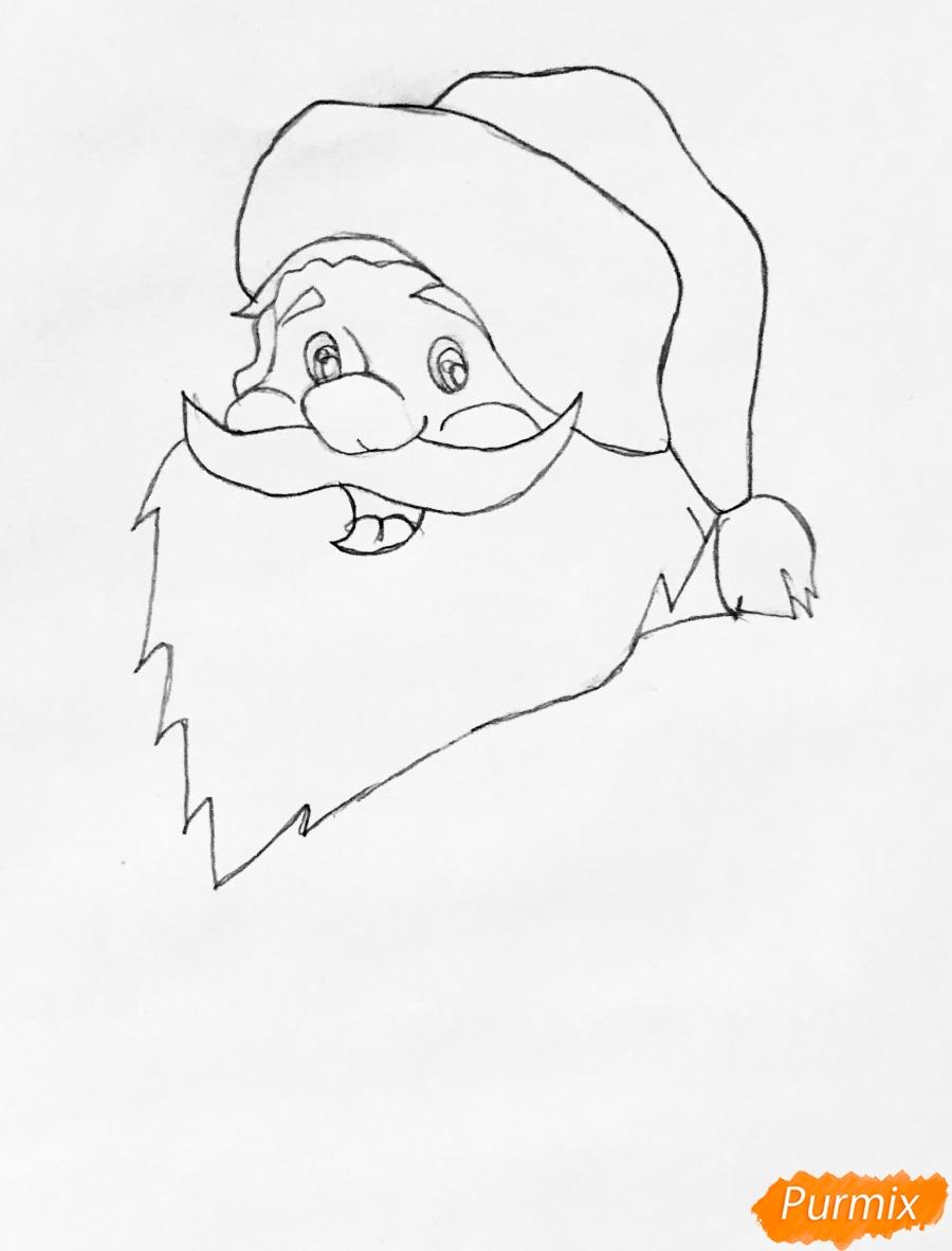 Рисуем Санта Клауса который показывает класс - фото 2