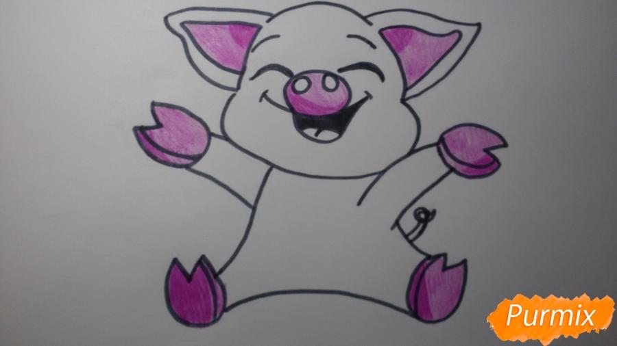 Рисуем счастливую свинью: символ 2019 года - шаг 5