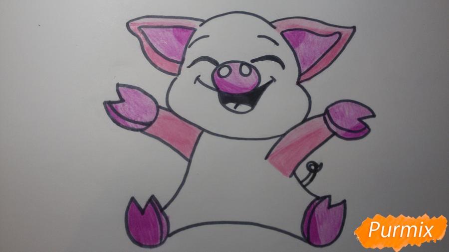 Рисуем счастливую свинью: символ 2019 года - шаг 6