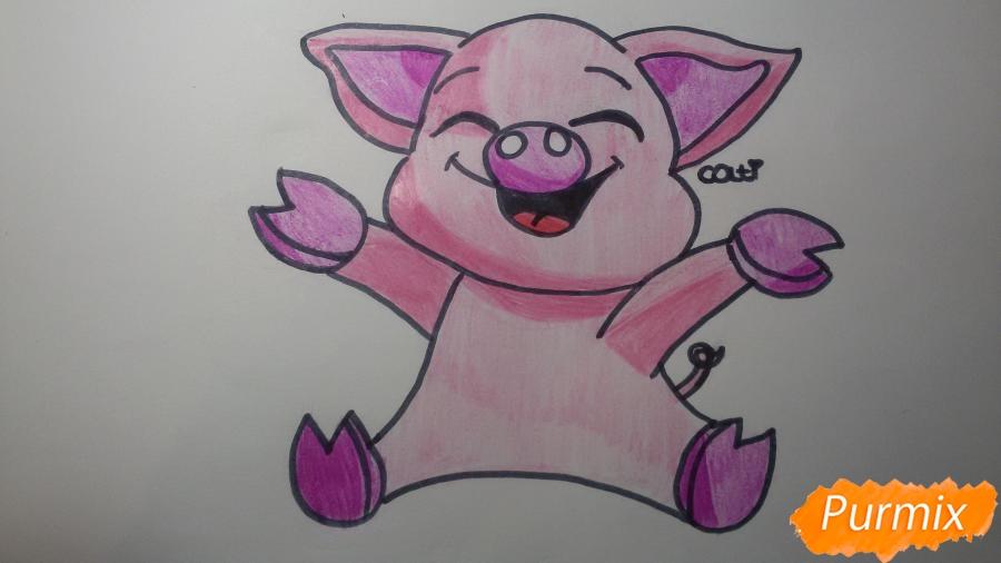 Рисуем счастливую свинью: символ 2019 года - шаг 8