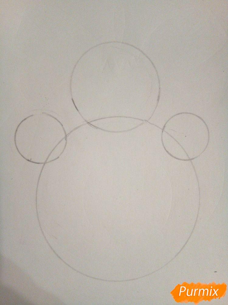 Рисуем снеговика в шапке-ушанке - шаг 1