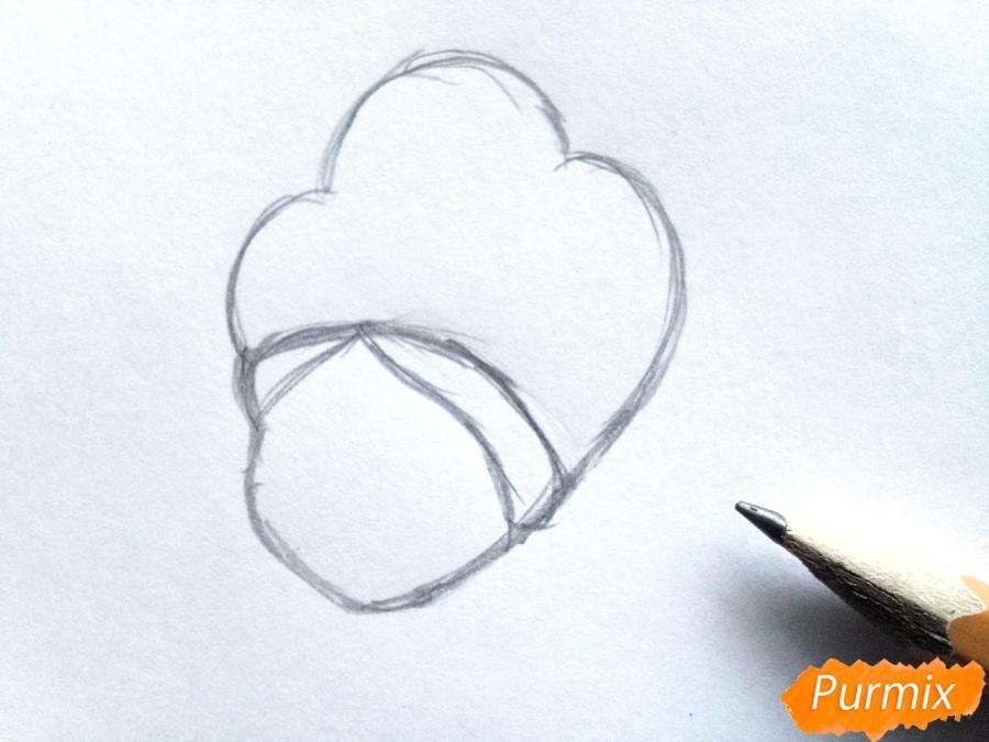 Рисуем Снегурочку легко для детей - шаг 1
