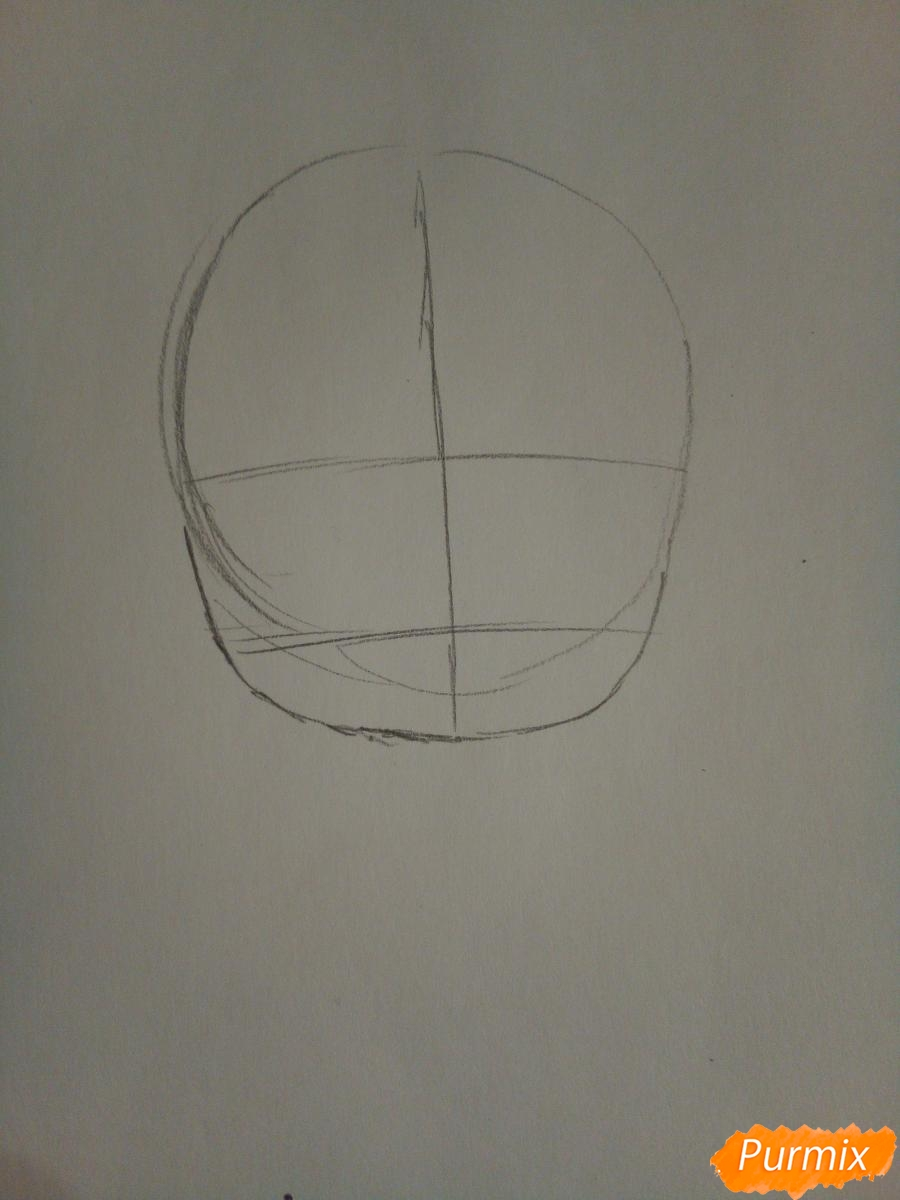 Рисуем снегурочку в стиле чиби - шаг 1