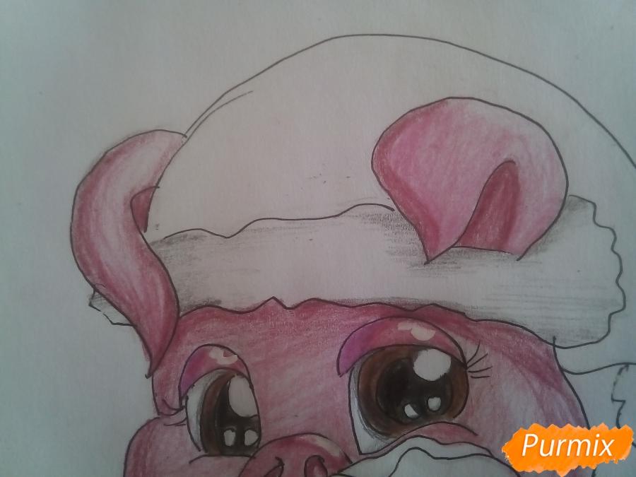 Рисуем свинью символ 2019 года карандашами - шаг 16