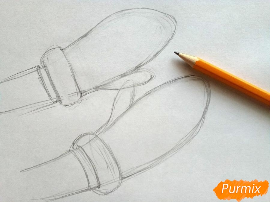 Рисуем вязаные варежки на руках - фото 2