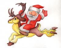 Как нарисовать новогоднюю открытку поэтапно