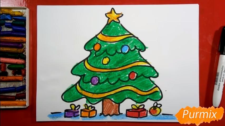 Рисуем ёлку для детей - фото 9
