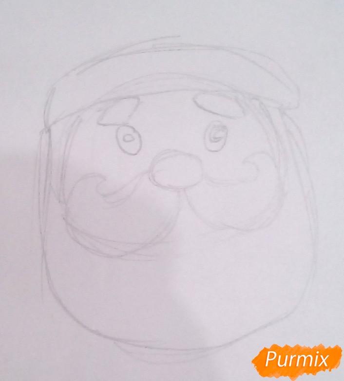 Рисуем голову милого Деда Мороза - фото 2
