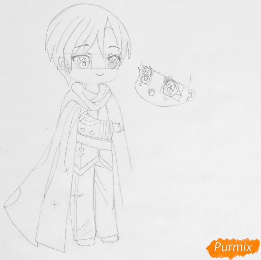 Рисуем влюблённых принца и принцессу в стиле чиби на День Святого Валентина - шаг 7