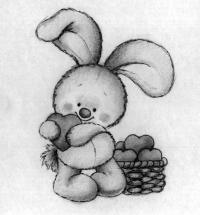 Рисуем зайца с сердечком на День святого Валентина поэтапно