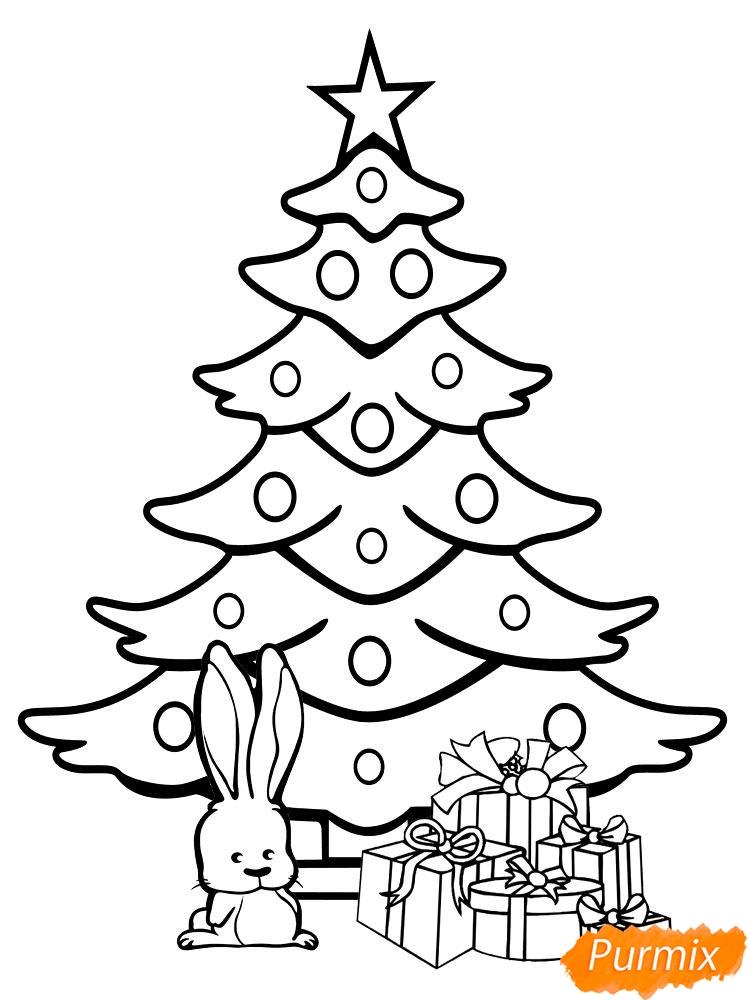Рисунки елки для срисовки - фото 1