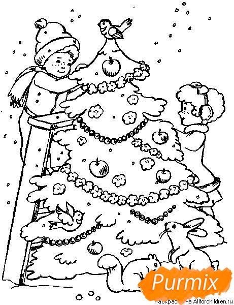 Рисунки елки для срисовки - фото 6