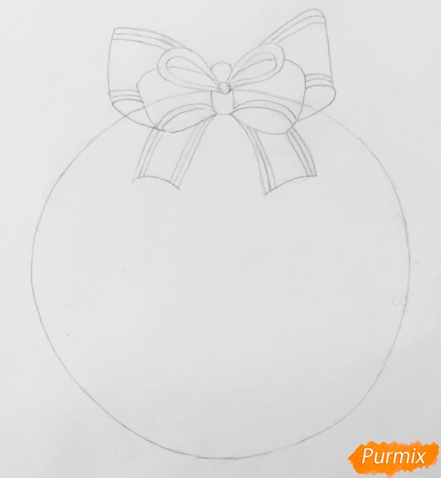Рождественский венок с надписью Merry Christmas - шаг 2