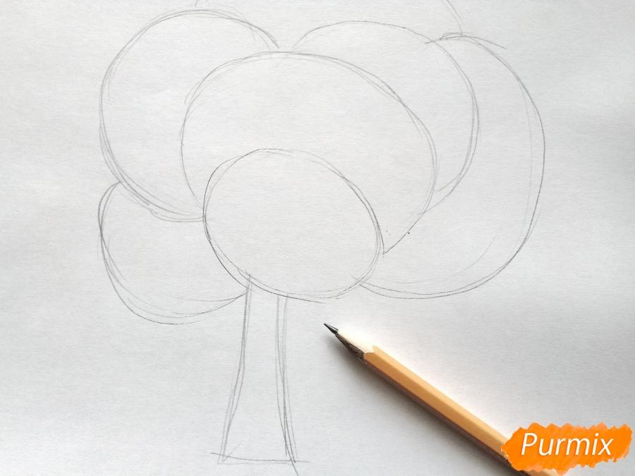 Рисуем букет из кленовых листьев - фото 1