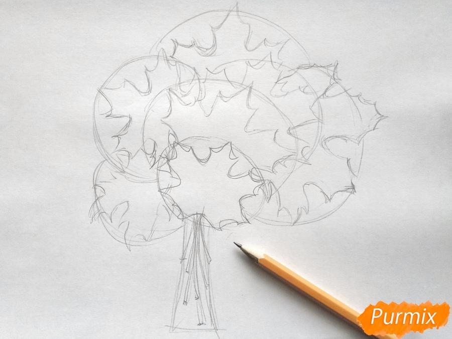 Рисуем букет из кленовых листьев - фото 2